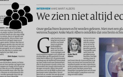 Anke Marit Albers successfully defends her PhD thesis and is interviewed by de Volkskrant